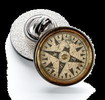 Pin de Solapa Magglass Rosa de los Vientos y Navegación Nº24 16mm