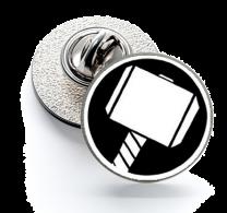 Pin de Solapa Magglass Martillo Thor mod 4
