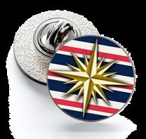 Pin de Solapa Magglass Rosa de  los Vientos Nautico Nº24 16mm