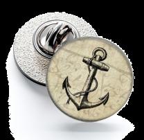 Pin de Solapa Magglass Nautico Ancla Nº25 16mm