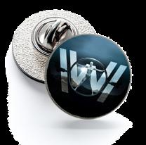 Pin de Solapa Magglass Westworld Black