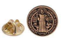 Pin de solapa Medalla San Benito 18mm