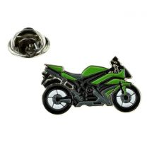 Pin de Solapa Moto Deportiva Verde
