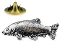 Pin de Solapa Pescado de Zanja Plateado