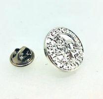 Pin de Solapa Sello de los caballeros templarios plata de primera ley 20mm