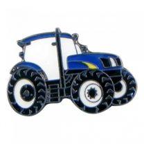 Pin de Solapa Tractor Azul 25x15mm