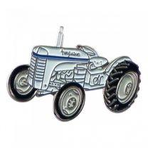 Pin de Solapa Tractor Blanco 25x15mm