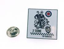 Pin de Solapa Vespa Two Tone Mod RAF