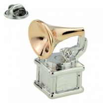 Pin de Solapa Gramofono 30x10mm