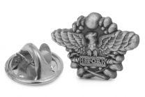 Pin de Solapa emblema del SPQR en acero medidas 2X15mm