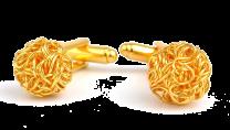 Gemelos de Camisa Borla Secession Gold Plated Cufflinks