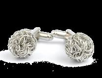 Gemelos de Camisa Borla Secession Silver Plated Cufflinks