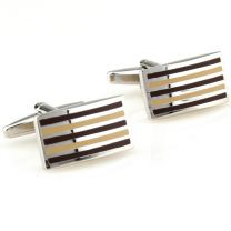Gemelos Beour Stripes Yellow & Brown