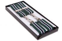 Tirantes para pantalones elásticos verdes y blancos