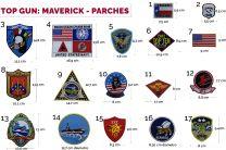 Pack de 17 Parches Termoadhesivos - Top Gun: Maverick